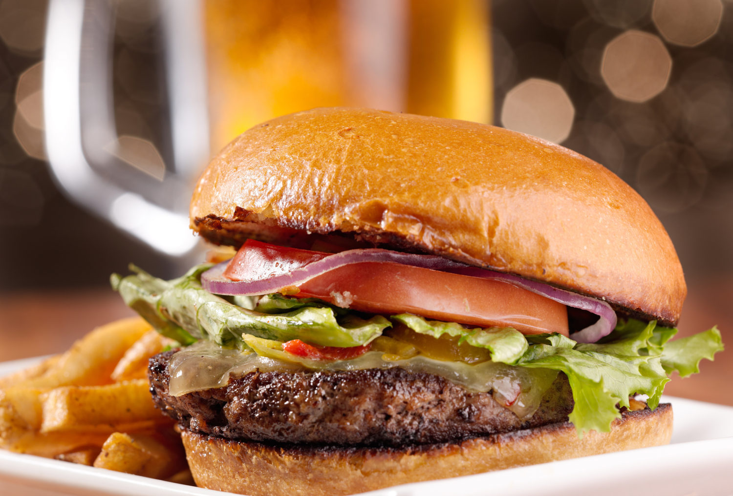Burgers and Brews Special on Tuesday